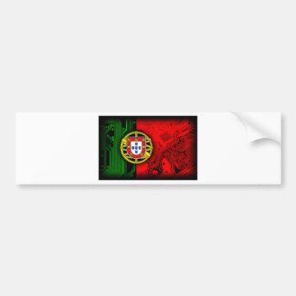 circuit board Portugal (Flag) Bumper Sticker