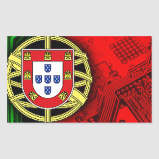 circuit board Portugal (Flag) Rectangular Sticker