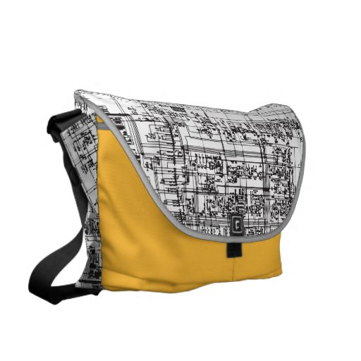 Circuit Board Schematic Courier Bags