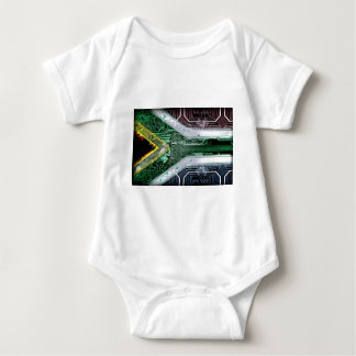 circuit board South Africa (Flag) Baby Bodysuit
