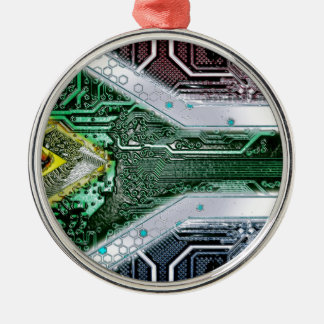 circuit board South Africa (Flag) Christmas Ornament
