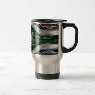 circuit board South Africa (Flag) Travel Mug