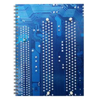 Circuit board spiral note book