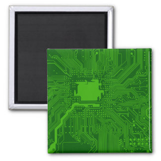 Circuit Board Square Magnet