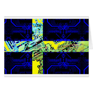 circuit board Sweden (Flag) Card