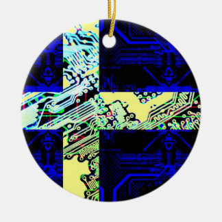 circuit board Sweden (Flag) Christmas Ornament