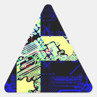 circuit board Sweden (Flag) Triangle Sticker