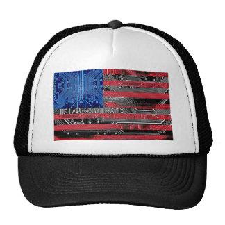 circuit board USA Mesh Hats