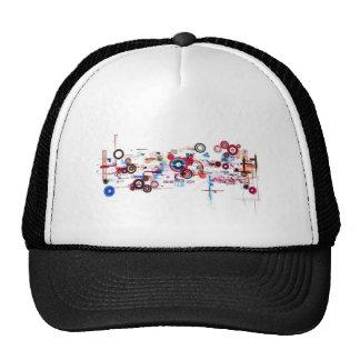 Circuit Board - White Mesh Hats