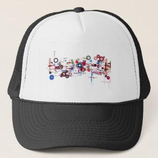Circuit Board - White Trucker Hat