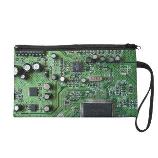 Circuit Board Wrist Bag Wristlet