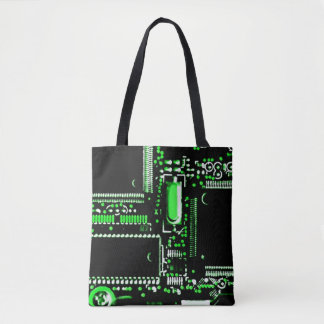 Circuit Green 2 all over tote bag