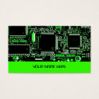Circuit Green 2 business card template green