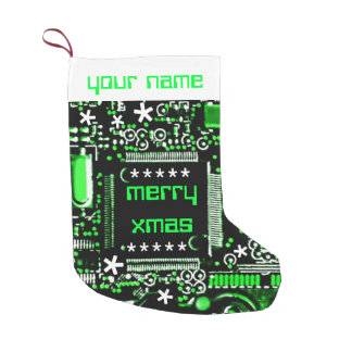 Circuit Green 2 Name stocking two sided