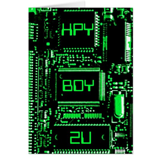Circuit Green 'HPY BDY 2U' birthday card
