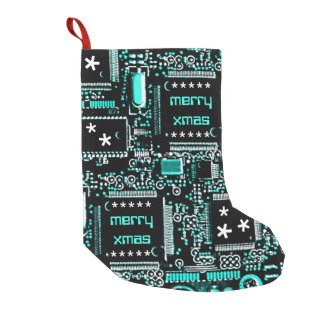 Circuit Light Blue 2 'Merry Xmas' stocking