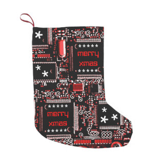 Circuit Red 2 'Merry Xmas' two-sided Small Christmas Stocking