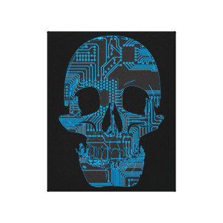 Circuit Skull Canvas Print