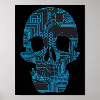 Circuit Skull Poster