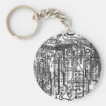 circuitry chain basic round button key ring