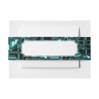 Circuitry Pattern Invitation Belly Band