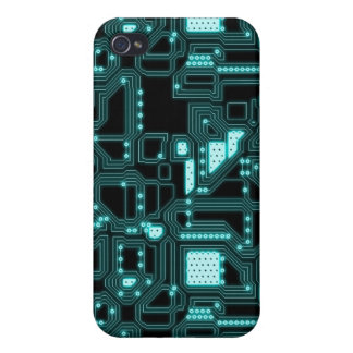 Circuitry Pattern iPhone 4 Cases