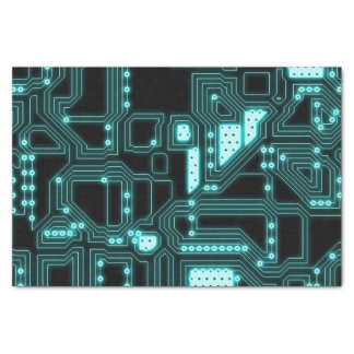 Circuitry Pattern Tissue Paper