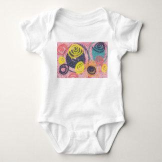 Circular Abstract Baby Bodysuit
