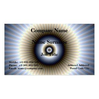 Circular Abstract Card Pack Of Standard Business Cards