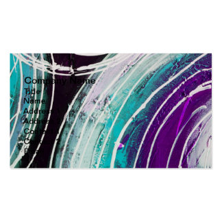 Circular Abstract Painting Pack Of Standard Business Cards