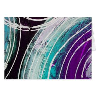 Circular Abstract Painting Card