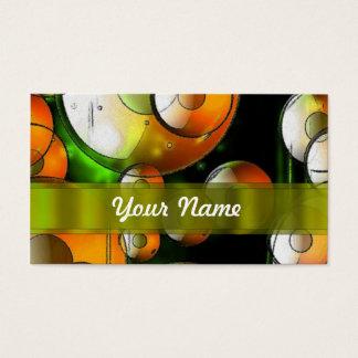 Circular abstract pattern business card