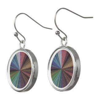 Circular Array Color 2 Silver-Plated Drop Earrings