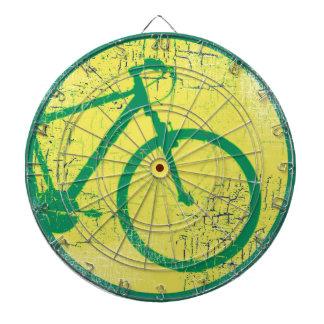 circular bicycle green dartboard