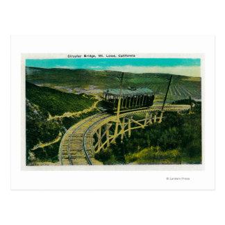 Circular Bridge, Mt. LoweMt. Lowe, CA Postcard