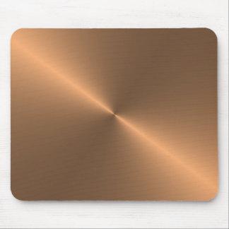circular brushed copper mouse mat