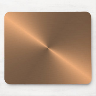 circular brushed copper mouse pad