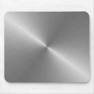 circular brushed steel mouse mat