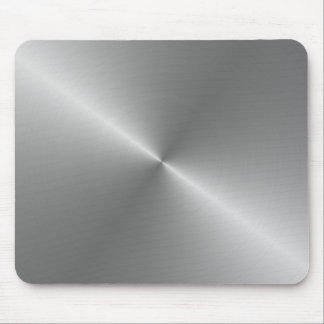 circular brushed steel mouse pad