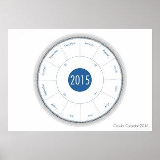 Circular Calendar 2015 poster (blueberry)