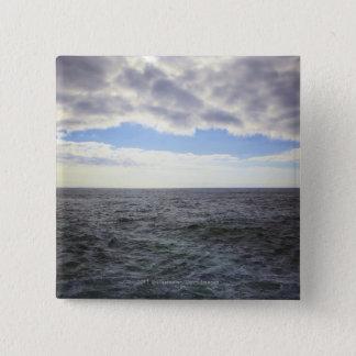 Circular Clouds over the Atlantic Ocean 15 Cm Square Badge