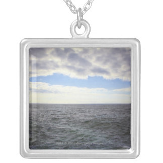 Circular Clouds over the Atlantic Ocean Silver Plated Necklace