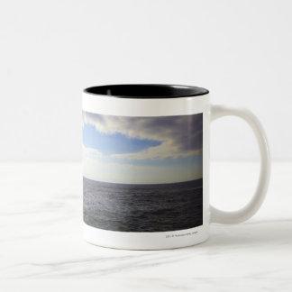 Circular Clouds over the Atlantic Ocean Two-Tone Coffee Mug