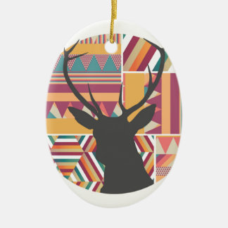 Circular Deer Christmas Ornament