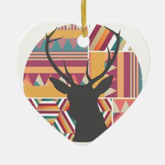 Circular Deer Christmas Ornament