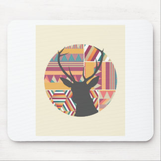 Circular Deer Mouse Pad