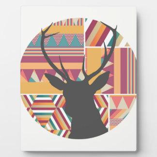 Circular Deer Plaque