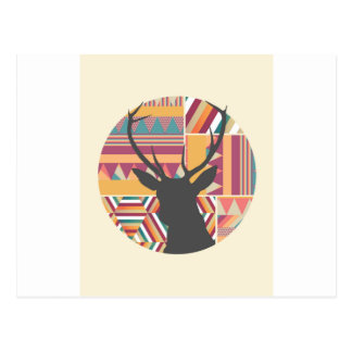 Circular Deer Postcard