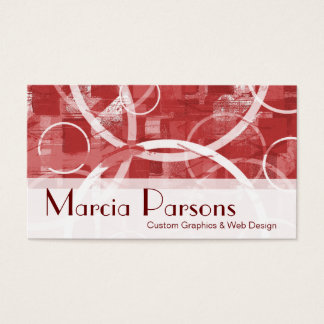 Circular Experiment #1- Cherry Red Business Card