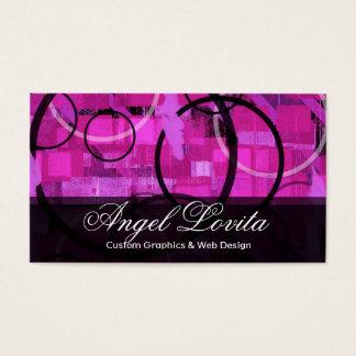 Circular Experiment #2 - Purple Business Card